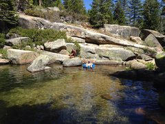 Rock Climbing Photo: Mike Arechiga chillin at the amazing swimming hole...