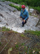 Rock Climbing Photo: Top of P3 - Bolt seems to have been placed to prot...