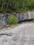 "Rock Climbing Photo: ""Close up"" of headwall"