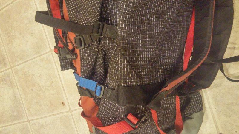 shoulder strap attachment point<br>