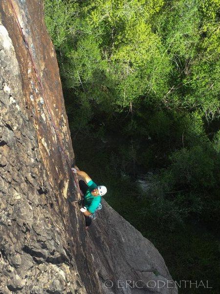 Rock Climbing Photo: Mark following Full Circle 5.11
