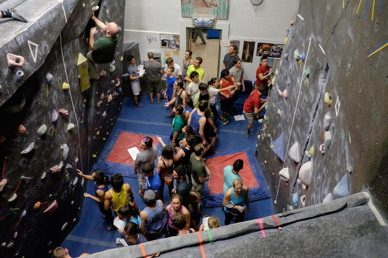 Overview of the UD Rock Wall....Small but it packs a punch!