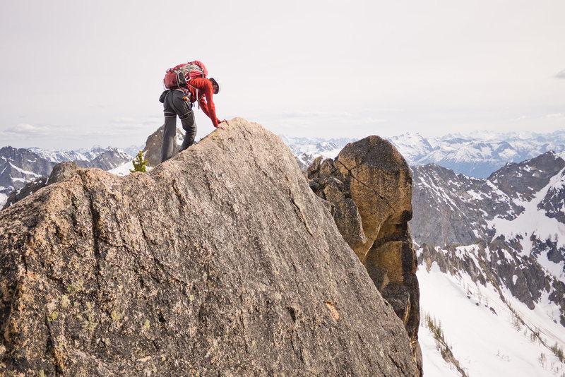 "Rock Climbing Photo: Traversing the ""White Camel"""