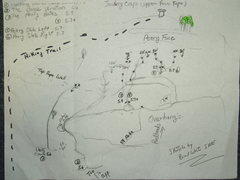 Rock Climbing Photo: Topo/Sketch by Brad White of IME