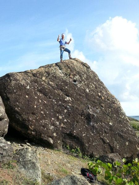 Rock Climbing Photo: Meteor blast FA.. Walter Galli