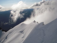 Rock Climbing Photo: Looking back along summit ridge