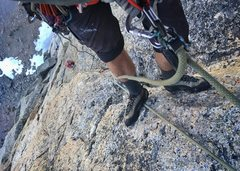 Rock Climbing Photo: Pitch 9 of new route on Liberty Bell