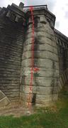 Rock Climbing Photo: Column Classic Panorama. Work your way along the g...