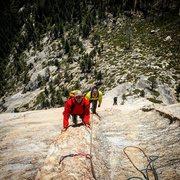 Rock Climbing Photo: On the dragons back on Snake Dike