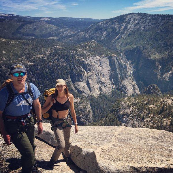 Rock Climbing Photo: Walking final few hundred yards at top of Snake Di...