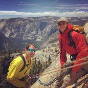 Rock Climbing Photo: On final roped pitch of Snake Dike