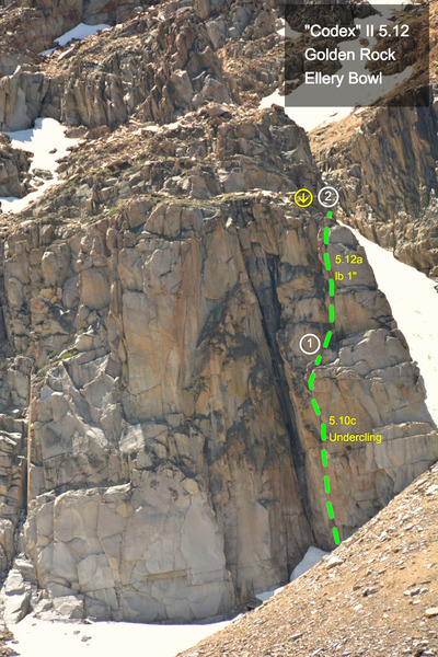 "Rock Climbing Photo: ""Codex"" (5.12a lieback) on the Golden Ro..."