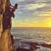 Rock Climbing Photo: We found ourselves over a rising tide beside the s...