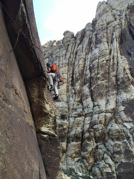 Elated to be just past the crux