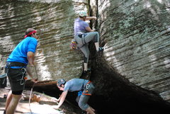 Rock Climbing Photo: Sometimes starting is the hardest part