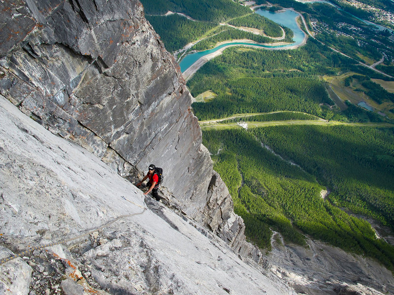 Rock Climbing Photo: NE Face of Ha Ling Peak - Canmore, Alberta