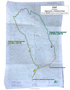 Rock Climbing Photo: Map showing approach to Cathedral Peak area from t...