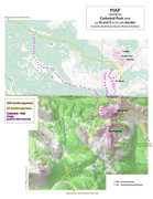 Rock Climbing Photo: Map of Cathedral Peak area.