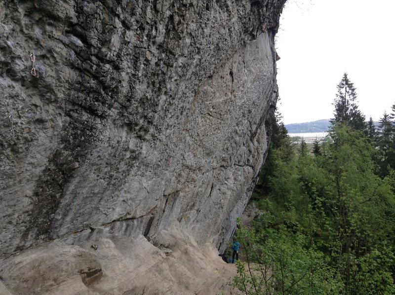 Par Toutatis from the left. Taken from near Klassikern (7b)