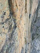 Rock Climbing Photo: A party on the last or second to last pitch (?). T...