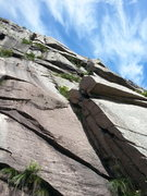 Rock Climbing Photo: The start of the route. Follow the left of two lef...