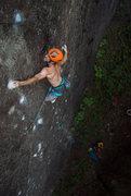 Rock Climbing Photo: Sticking the crux.  Photo by @radam_gnawrot