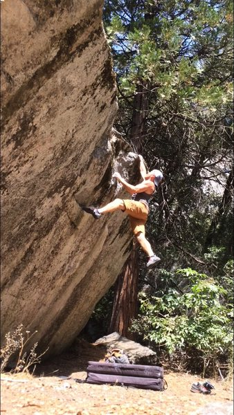 Did this v4 variation in 100 degree temps. 'Twas a sweaty mess but damn fun.