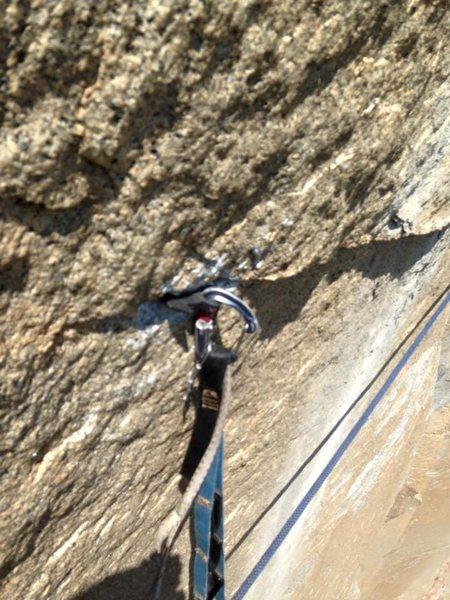 Rock Climbing Photo: crappy horizontal beak used to pass a blown head o...