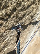 crappy horizontal beak used to pass a blown head on the traverse pitch. Sorry it's so blurry