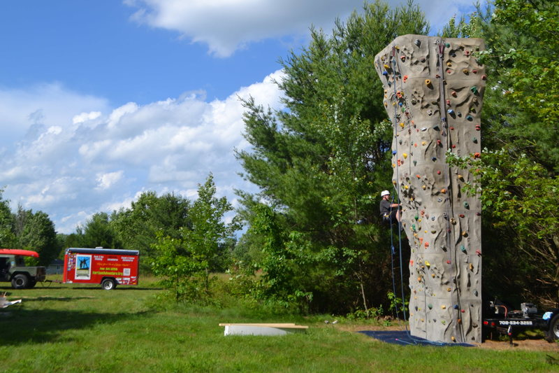 Rock wall- has a sport route too!
