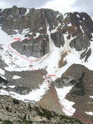 "Rock Climbing Photo: Approach to (and descent from) ""Speed of Life..."