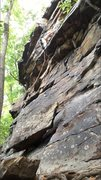 Rock Climbing Photo: Just past the first roof on Celtic son. Great rout...