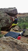 Rock Climbing Photo: Working the mid-section of Elemental Defamation.