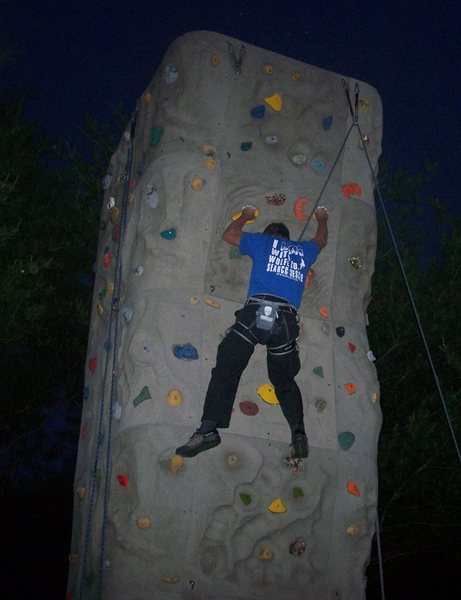 night climbing too.