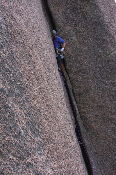 Rock Climbing Photo: Stewart of the HWDAMF on pitch one of Tee Pee Towe...