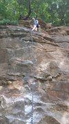 Rock Climbing Photo: Jonetta, just after crushing the FA!