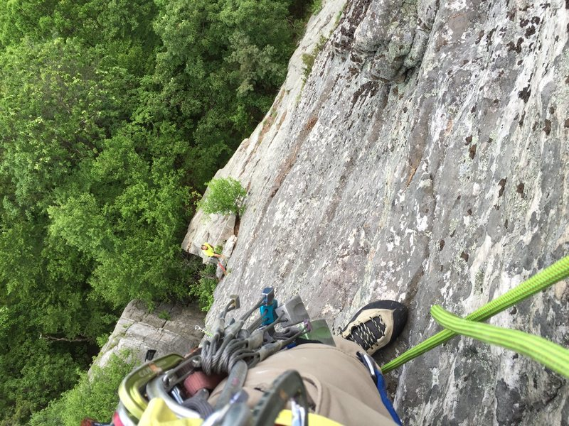 Rock Climbing Photo: Cold tent at the peak...haha, it's more like a...