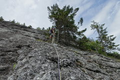 Rock Climbing Photo: P1 belay.