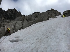 Rock Climbing Photo: descending the snow patch bugaboo col, there are b...