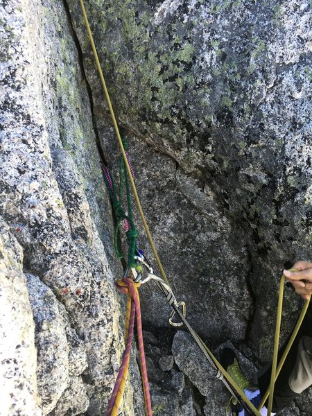 anchor at pitch three that you can bail from.  3 60m raps gets you to the ground.