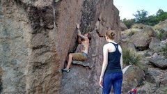 Rock Climbing Photo: Tyler going for the big reach