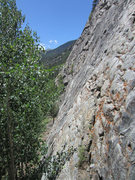 Rock Climbing Photo: Looking across the angle of rock at the Far East W...