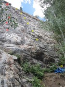 Rock Climbing Photo: Cool Colorado Rain in red. Rolling in Your Arms in...