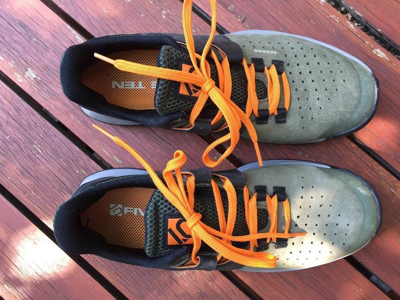 Shown with orange laces, but comes with black laces as well if you don't like bright colors