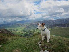 Rock Climbing Photo: Bess on The Ard Cragg Ridge .. Newlands Valley