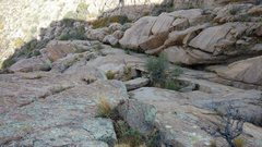Rock Climbing Photo: Looking down from Pitch 4 belay. Photo Meghan Curr...