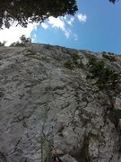 Rock Climbing Photo: Looking up pitch 7.
