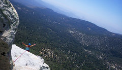 Rock Climbing Photo: Topping out via Coffin Nail and Traitor Horn.  Jul...