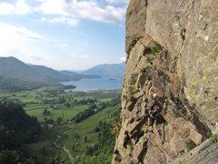 Rock Climbing Photo: On Black Crag  Borrowdale Valley