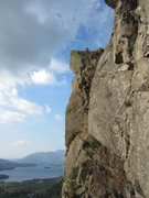 Rock Climbing Photo: On the Black crag pinnacle